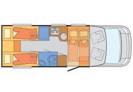 Autocaravana Perfilada SUNLIGHT T-68 con cambio automático de Ocasión