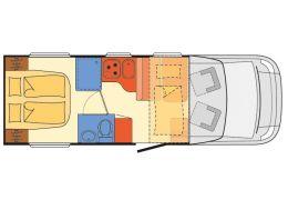 Autocaravana Perfilada DETHLEFFS Trend T-6757 DBM modelo 2019 Nueva en Venta