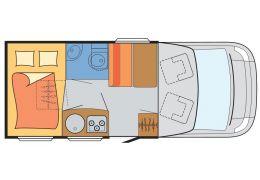 Autocaravana Perfilada SUNLIGHT T-60 modelo 2016 de Ocasión