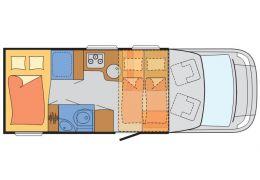 Autocaravana Perfilada SUNLIGHT T-65 modelo 2016 de Ocasión
