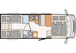 Autocaravana Integral DETHLEFFS Trend I 7057 EB modelo 2019 Nueva en Venta