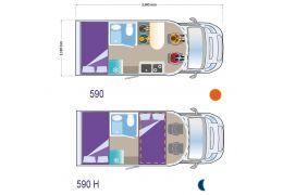 Autocaravana Perfilada ILUSION 590 XMK modelo 2017 de Ocasión