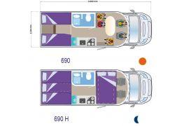 Autocaravana Perfilada ILUSION 690 XMK de Ocasión