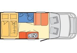 Autocaravana Perfilada DETHLEFFS Globebus T-15 modelo 2016 de Ocasión