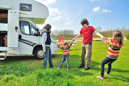 enjoy motorhome & family