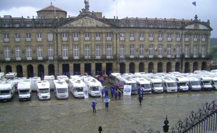 Las autocaravanas vuelven a Santiago de Compostela