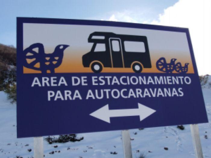 Inauguración del área de autocaravanas en Valgrande - Pajares