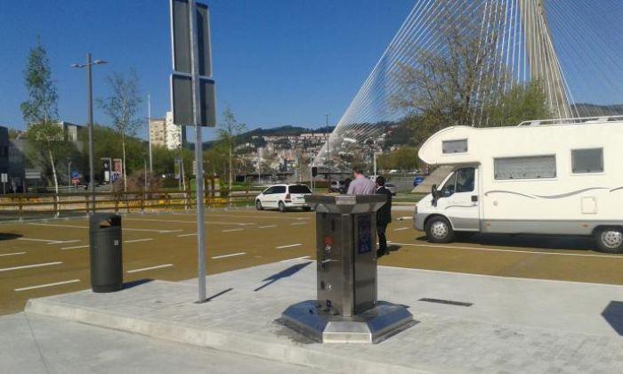 Inauguración del área de autocaravanas en Pontevedra