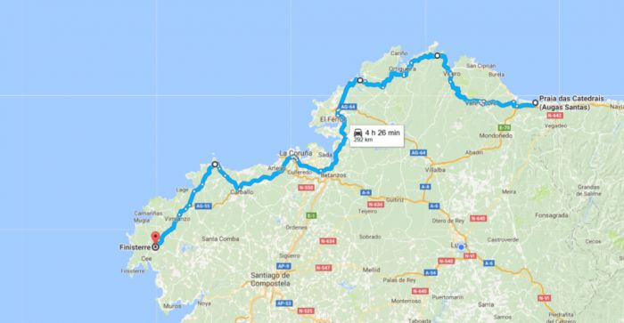 Ruta por la costa norte de Galicia para viajar en autocaravana