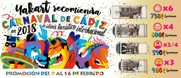 Viaja a los Carnavales de Cádiz en autocaravana