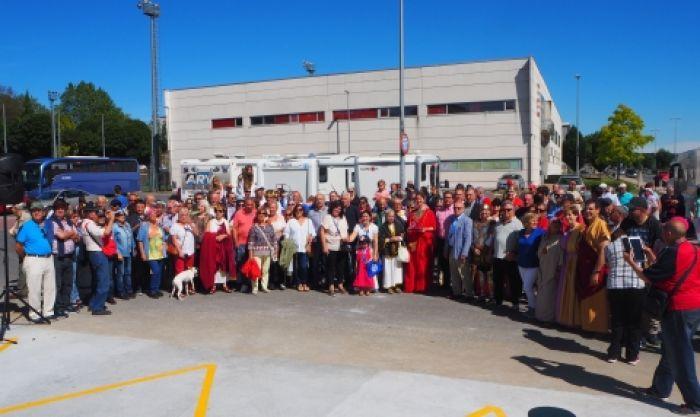 Lugo inaugura una nueva área de servicio para autocaravanas