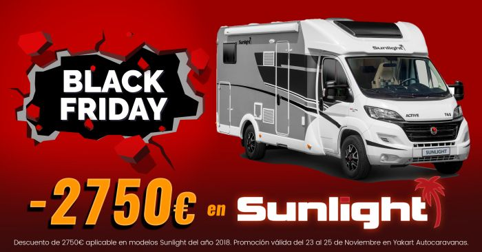 Autocaravanas Sunlight Black Friday