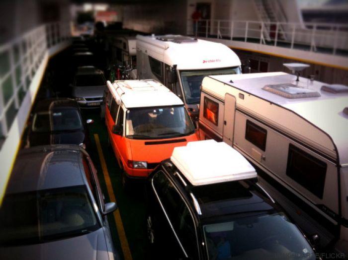 En ferry, sin renunciar a viajar en autocaravana