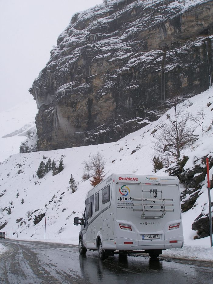 De la caravana a la pista de esquí