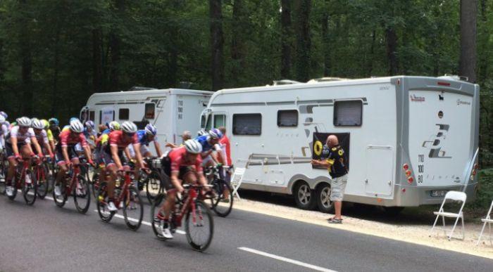 El Tour y la Vuelta también son para las autocaravanas